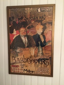 An old Barhoppers poster from back in the day.