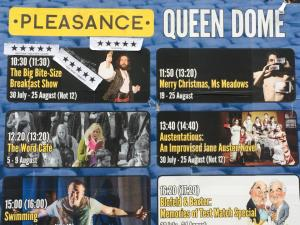 The show on the upper right featured a show from 2014's Edinburgh Fringe featuring plays written by Joel Jones and originally performed in Charlottesville's Barhoppers.