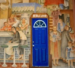 blue door mural 3