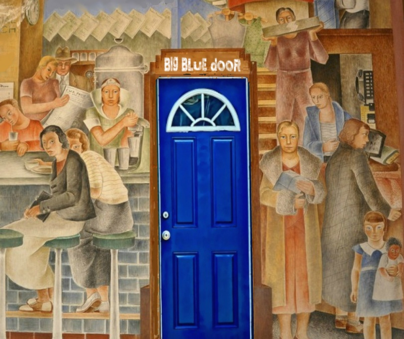 blue door mural 3 copy